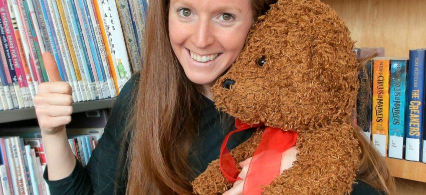 Person holding teddy bear