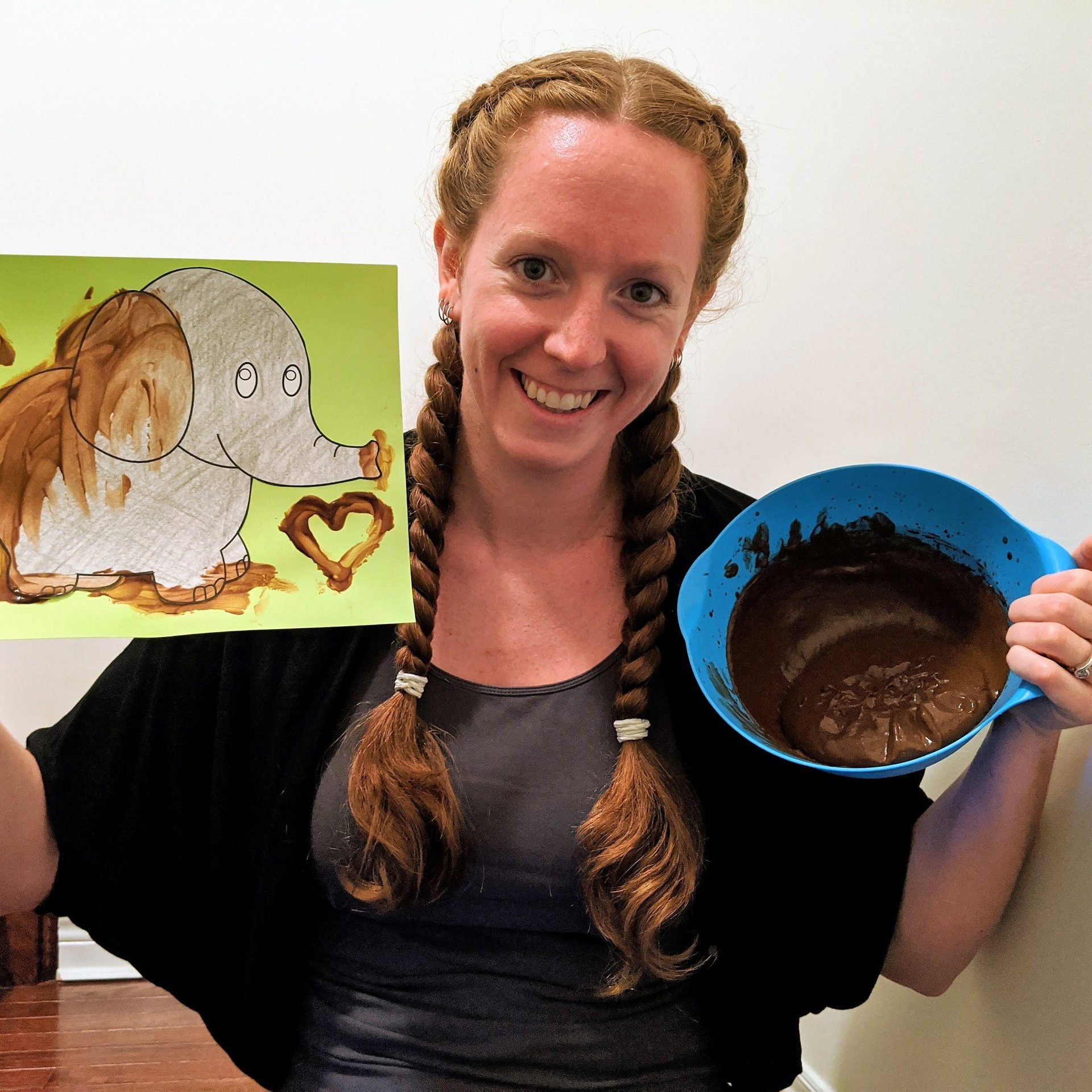 Chocolate Pudding Painting