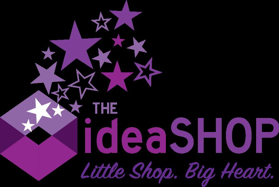 The IdeaSHOP: Little Shop. Big Heart. logo