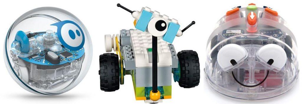 Sphero, LEGO WeDo, and Blue Bot